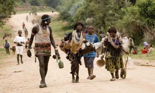 Zdjecie ETIOPIA / Dolina Omo / droga na targ / w drodze na targ
