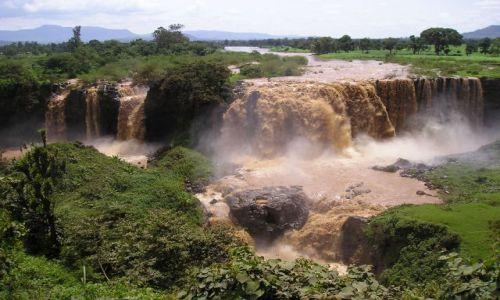 Zdjęcie ETIOPIA / brak / niedaleko Bahar Dar / wodospad na Nilu Błękitnym
