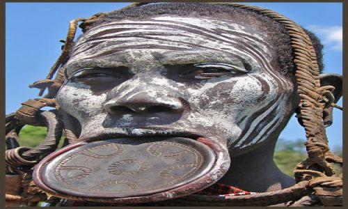 Zdjecie ETIOPIA / Etiopia Południowa / Dolina  rzeki Omo / Twarze Etiopi - Plemie Mursi