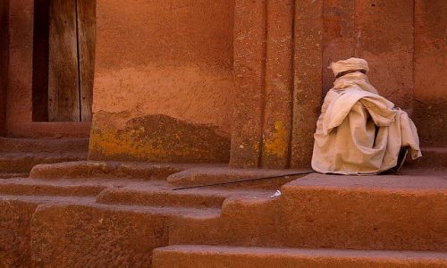 Zdjecie ETIOPIA / P�nocna - �rodkowa Etiopia / Lalibella / Odbicie lustrza