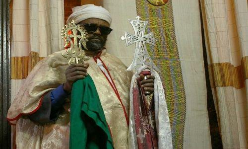 Zdjecie ETIOPIA / Północna - środkowa Etiopia / Lalibela / W osłonie przeciwflaszowej:)