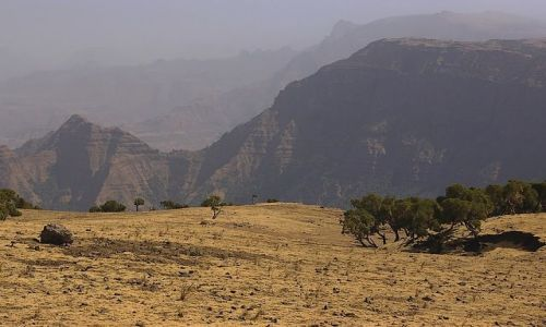 Zdjecie ETIOPIA / Północna Etiopia / Siemen Mountains / Przestrzeń, wol