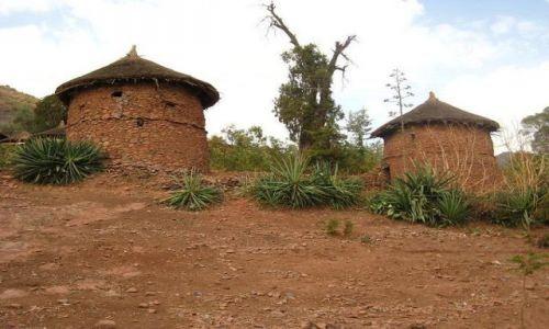 Zdjęcie ETIOPIA / brak / Lalibela / Domy w Lalibeli
