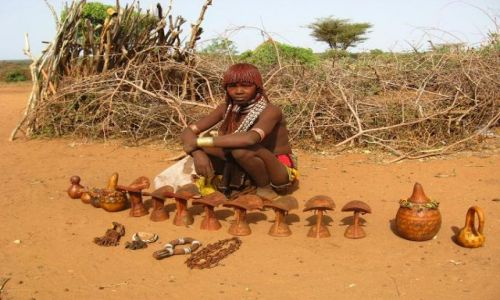 Zdjecie ETIOPIA / brak / Turmi / Kobieta z plemi