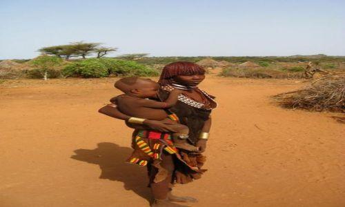 Zdjecie ETIOPIA / brak / Turmi / Kobieta z dzieckiem