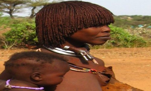 Zdjecie ETIOPIA / brak / Turmi / Mama z dzieckiem