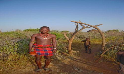 Zdjęcie ETIOPIA / pd. Etiopia / Wioska Hamerów w okolicach Turmi / Mężczyżna zplemienia Hamerów