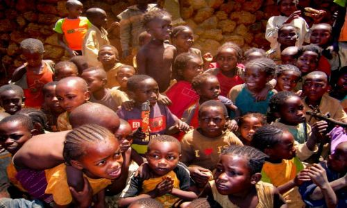 Zdjecie ETIOPIA / pd. Etiopia, Karat-Konso / Wioska ludu Konso / Zamieszanie