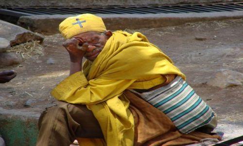 Zdjęcie ETIOPIA / Gangor / Gangor / Trędowaty