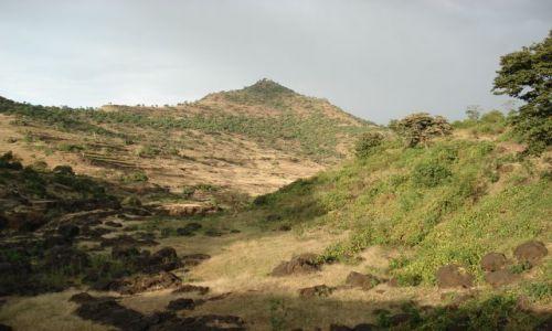 Zdjęcie ETIOPIA / Amhara / okolice Bahar Dar / Tis Issat / Afrykański krajobraz