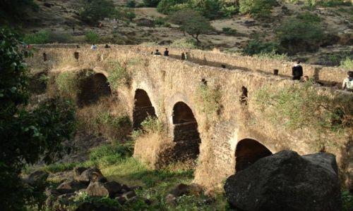 Zdjęcie ETIOPIA / Amhara / okolice Bahar Dar / Tis Issat / Portugalski most