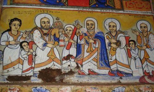 Zdjęcie ETIOPIA / Amhara / okolice Bahar Dar / półwysep Zege / Etiopskie malowidła