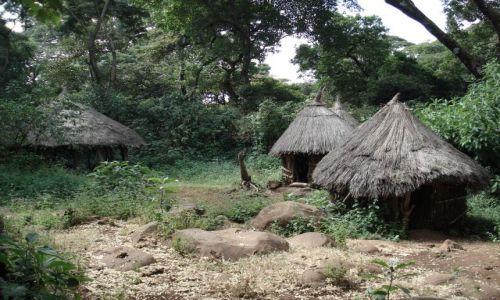 Zdjęcie ETIOPIA / Amhara / okolice Bahar Dar / pówysep Zege / Etiopskie chaty