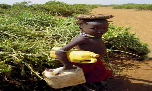Zdjecie ETIOPIA / Pd. Etiopia - Omorate / Wioska Plemienia Dassanech nad rzeką Omo / W drodze do rzeki
