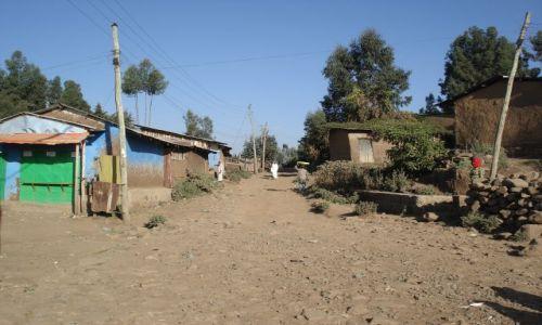 Zdjęcie ETIOPIA / Amhara / Debark / Ulica w Debark