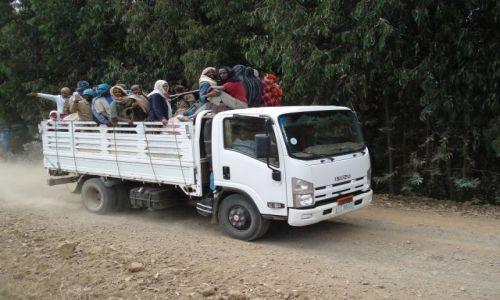 Zdjecie ETIOPIA / Amhara / trasa Sankaber - Debark/ Simien / Transport w górach
