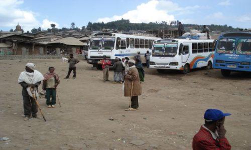Zdjęcie ETIOPIA / Amhara / Debark / Dworzec autobusowy