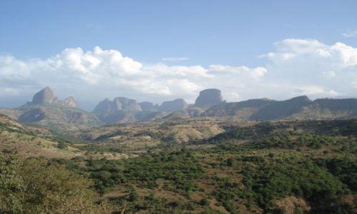 Zdjęcie ETIOPIA / Amhara / trasa Debark - Shire / Konkurs - Panorama gór Simien