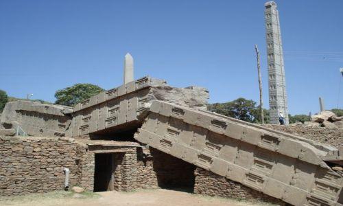 Zdjęcie ETIOPIA / Tigray / Aksum / Stelle w Aksum