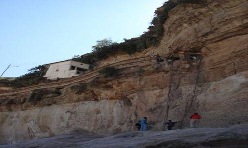 Zdjecie ETIOPIA / Tigray / Debre Damo / Jedyne wejście do monastyru