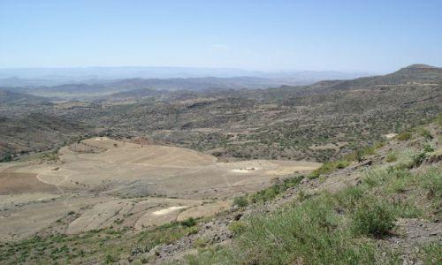 Zdjecie ETIOPIA / Amhara / okolice Lalibeli / Krajobraz okolic Lalibeli