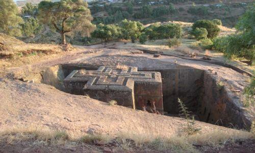 Zdjecie ETIOPIA / Amhara / Lalibela / Najsłynniejszy kościół etiopski