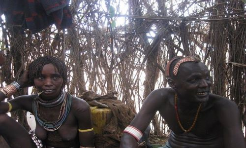 Zdjecie ETIOPIA / Omo Valley / Kara-Korcho Community site / KARO PEOPLE