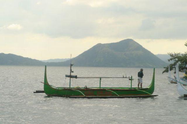 Zdjęcia: Jezioro Taal, Banca na jeziorze Taal, FILIPINY