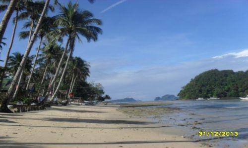 Zdjecie FILIPINY / Palawan / okolice El Nido / Rajska plaża