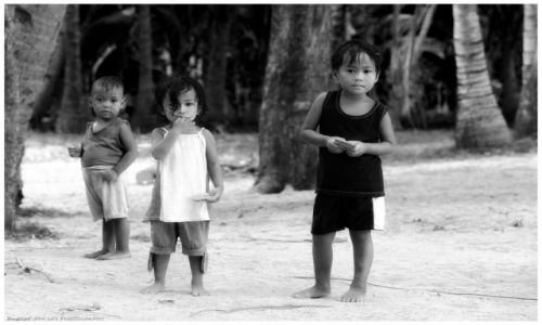 Zdjęcie FILIPINY / Busuanga / Ocamocam / Children from Ocamocam Village