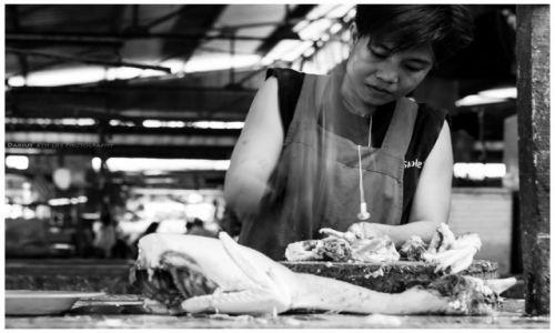 Zdjęcie FILIPINY / Panay / Iloilo / Chopping!
