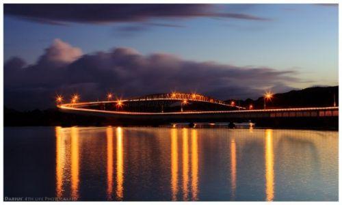 Zdjęcie FILIPINY / Leyte  / San Juanico Bridge / Night is coming