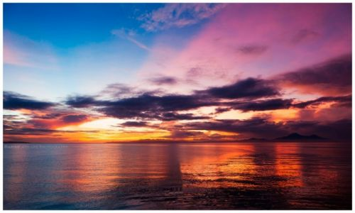 Zdjęcie FILIPINY / Leyte  / San Bernardino Straight / Stormy Sundown