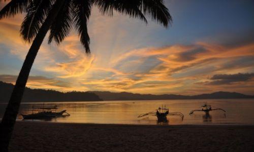 Zdjecie FILIPINY / Palawan / Port Barton / Słońcem malowan