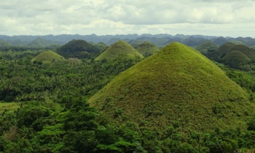 Zdjęcie FILIPINY / wyspa Bohol / Chocolate Hills / Czekoladowe Wzgórza