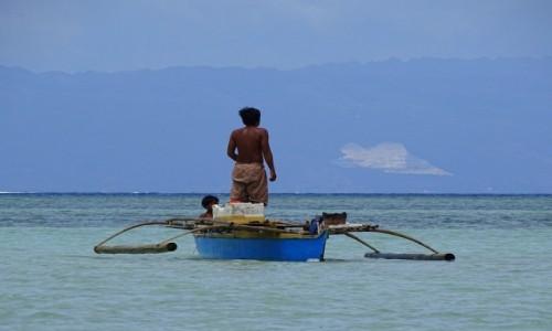 Zdjecie FILIPINY / wyspa Bohol / okolice Virgin Island / Hen na horyzoncie...