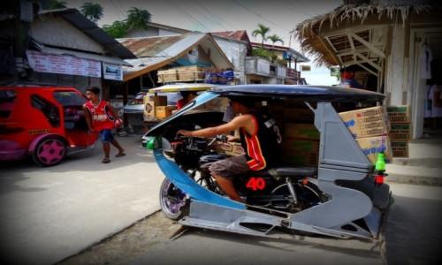 Zdjecie FILIPINY / Palawan / El Nido / Trycykl dostawczy