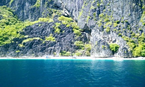 Zdjecie FILIPINY / El Nido / White Beach Annex. / Skała