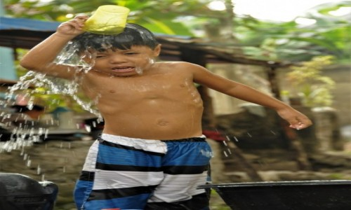 Zdjecie FILIPINY / Cebu / Badian / Prysznic