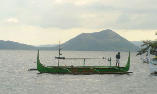 FILIPINY / brak / Jezioro Taal / Banca na jeziorze Taal