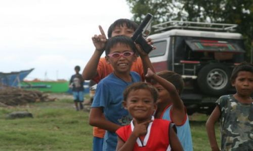FILIPINY / Agoo/Luzon / San Miguel / Mali mieszkańcy San Miguel