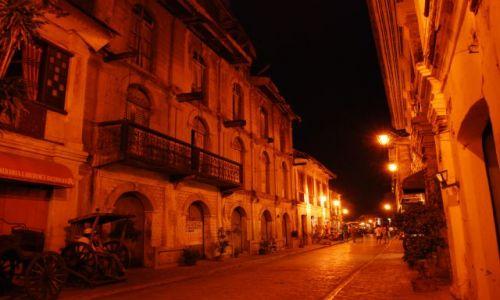 Zdjęcie FILIPINY / Illocos / Vigan / Vigan nocą