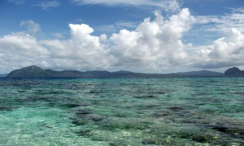 FILIPINY / Palawan / Simisu Island / ... Miniloc Island ....
