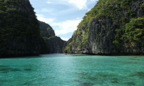 Zdjecie FILIPINY / Palawan / Miniloc Island / ... wejście do Wielkiej Laguny ...