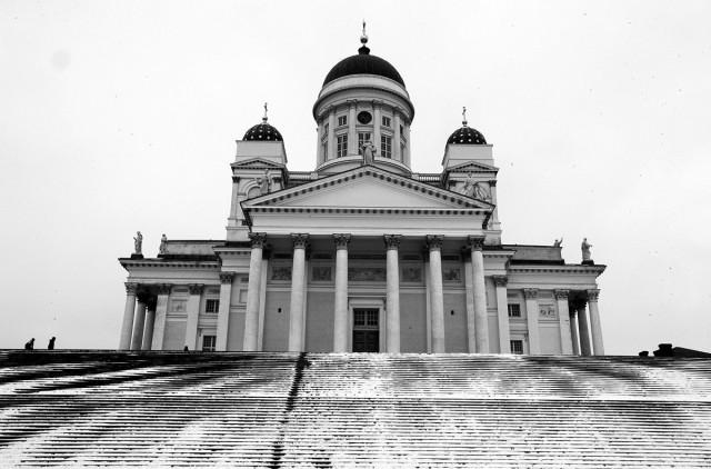 Zdjęcia: Plac senacki , Helsinki, Wielka Katedra Luterańska, FINLANDIA