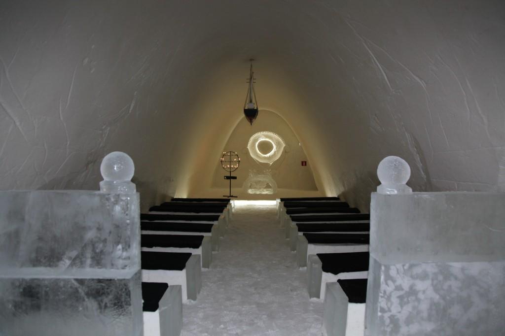 Zdjęcia: Kemi, Laponia, Kaplica w lodowym zamku, FINLANDIA