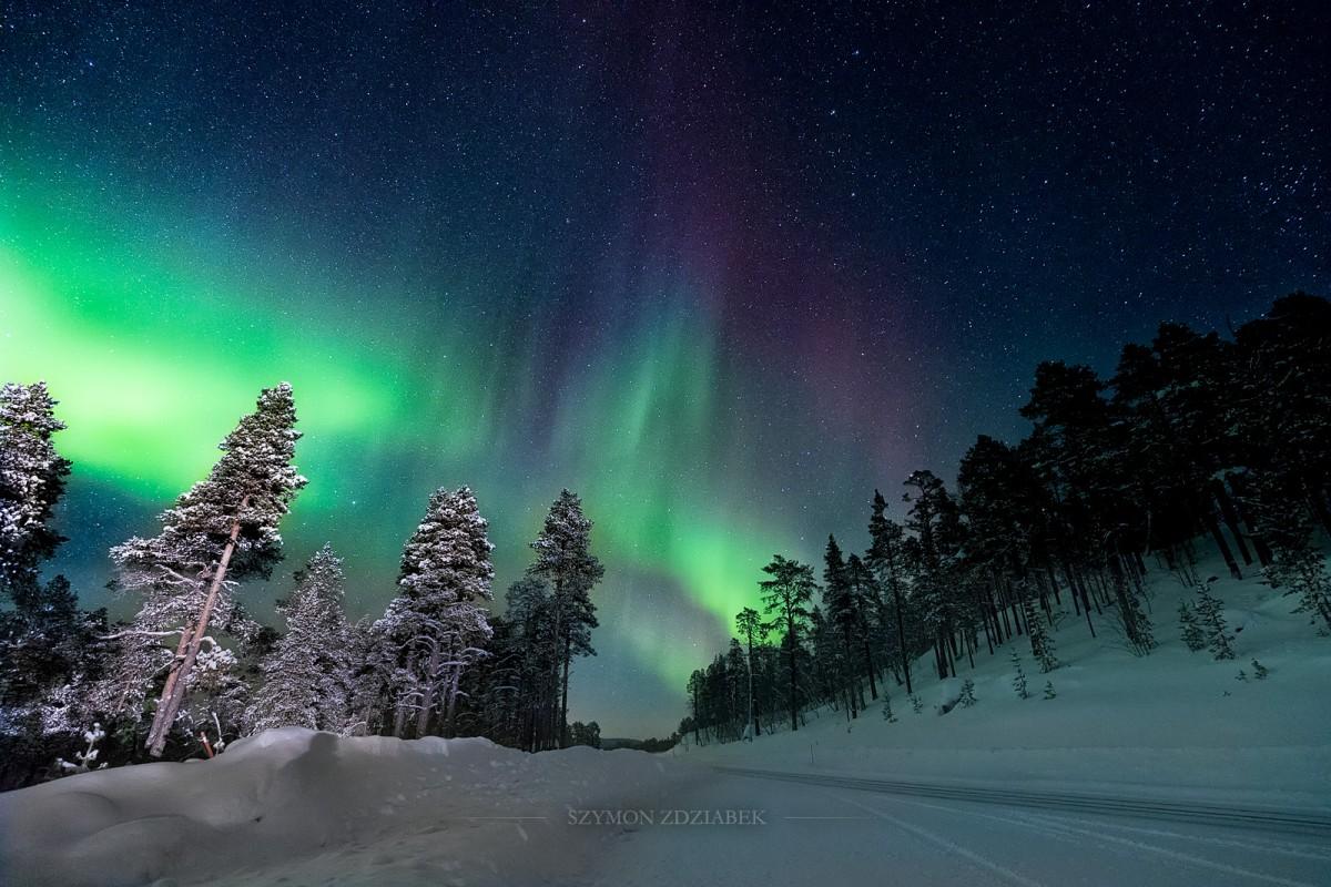 Zdjęcia: Kaamanen, Lapland, Aurora borealis, FINLANDIA