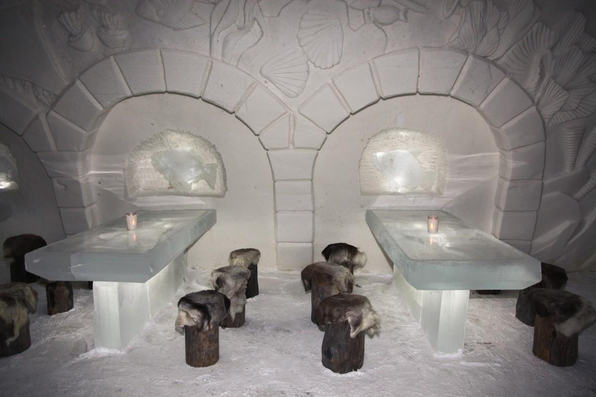 Zdjęcia: Kemi,, Laponia, Bar w lodowym zamku, FINLANDIA