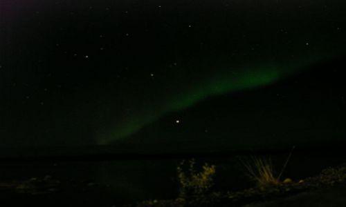 Zdjecie FINLANDIA / Laponia / Inari / Zorza polarna nad jeziorem Inari