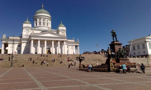 Zdjęcie FINLANDIA / Helsinki / Aleksanterinkatu / Katedra protestancka - symbol Helsinek